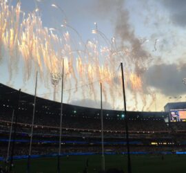 2015 Carlton v Richmond fireworks