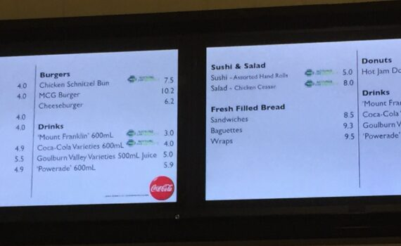 2015 MCG food prices Carlton v Richmond