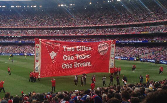 swans 2016 grand final banner AFL